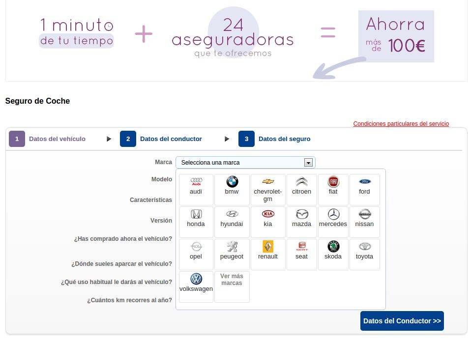 Comparador de Seguros - TuSeguroMasBarato.com